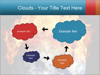Burning earth globe PowerPoint Templates - Slide 72