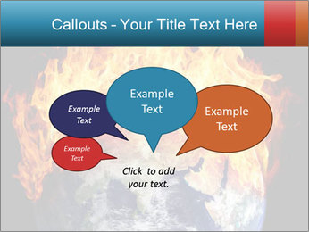Burning earth globe PowerPoint Templates - Slide 73