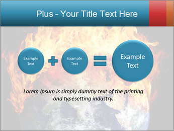 Burning earth globe PowerPoint Template - Slide 75