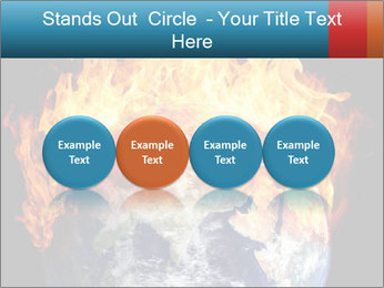 Burning earth globe PowerPoint Templates - Slide 76