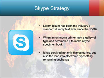Burning earth globe PowerPoint Templates - Slide 8