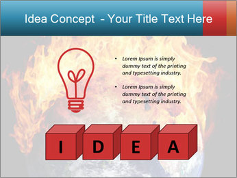 Burning earth globe PowerPoint Template - Slide 80