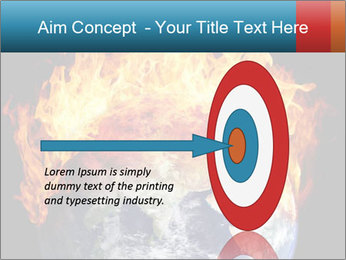 Burning earth globe PowerPoint Template - Slide 83