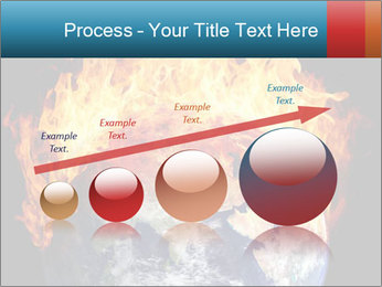 Burning earth globe PowerPoint Template - Slide 87