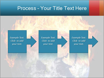 Burning earth globe PowerPoint Template - Slide 88