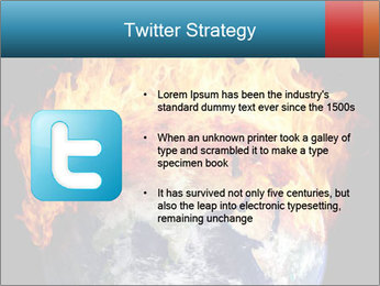 Burning earth globe PowerPoint Template - Slide 9