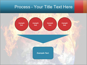 Burning earth globe PowerPoint Template - Slide 93