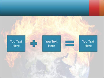 Burning earth globe PowerPoint Templates - Slide 95
