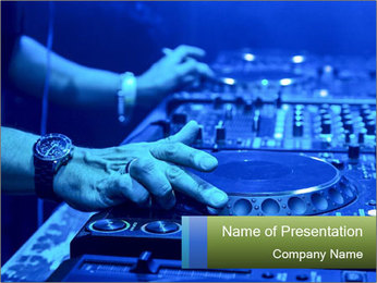 Dj mixes the track PowerPoint Template - Slide 1