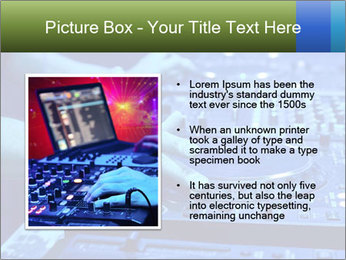 Dj mixes the track PowerPoint Template - Slide 13