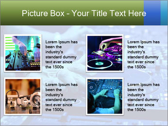 Dj mixes the track PowerPoint Template - Slide 14