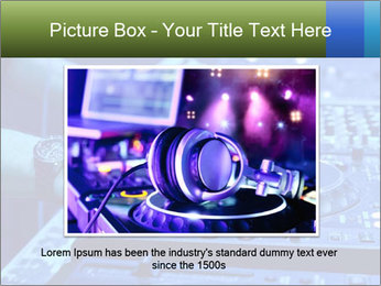 Dj mixes the track PowerPoint Template - Slide 16