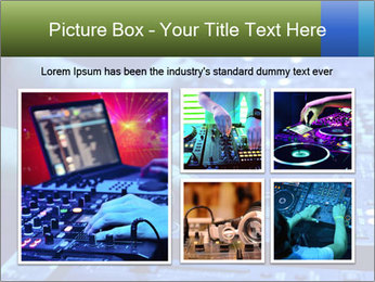 Dj mixes the track PowerPoint Template - Slide 19