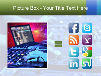 Dj mixes the track PowerPoint Template - Slide 21