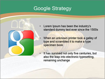 Gavel, law book PowerPoint Template - Slide 10