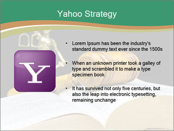 Gavel, law book PowerPoint Template - Slide 11