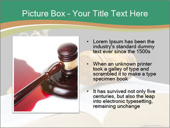 Gavel, law book PowerPoint Template - Slide 13