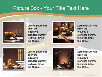 Gavel, law book PowerPoint Templates - Slide 14