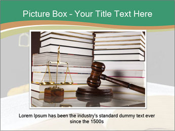 Gavel, law book PowerPoint Template - Slide 15
