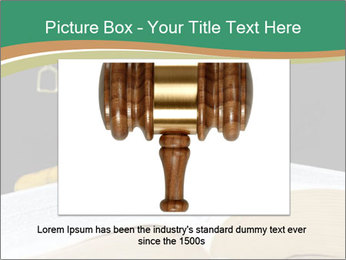 Gavel, law book PowerPoint Template - Slide 16