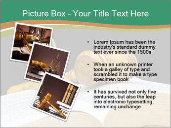Gavel, law book PowerPoint Template - Slide 17
