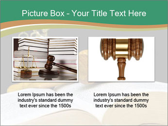 Gavel, law book PowerPoint Template - Slide 18