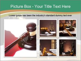 Gavel, law book PowerPoint Template - Slide 19