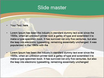 Gavel, law book PowerPoint Template - Slide 2