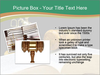 Gavel, law book PowerPoint Template - Slide 20