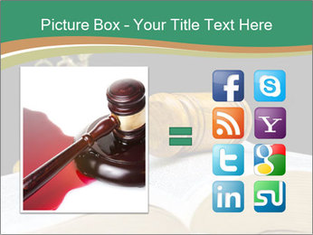 Gavel, law book PowerPoint Template - Slide 21