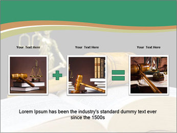 Gavel, law book PowerPoint Template - Slide 22
