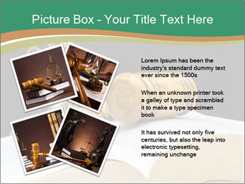 Gavel, law book PowerPoint Template - Slide 23