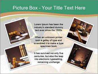 Gavel, law book PowerPoint Template - Slide 24