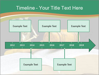 Gavel, law book PowerPoint Template - Slide 28