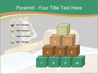 Gavel, law book PowerPoint Template - Slide 31