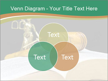 Gavel, law book PowerPoint Template - Slide 33