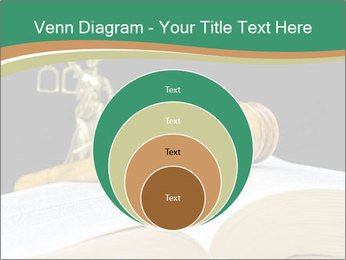 Gavel, law book PowerPoint Template - Slide 34