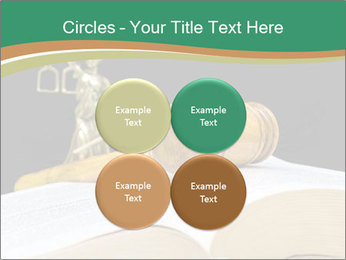 Gavel, law book PowerPoint Template - Slide 38