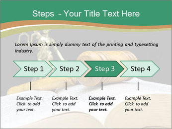Gavel, law book PowerPoint Template - Slide 4