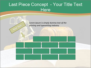 Gavel, law book PowerPoint Template - Slide 46