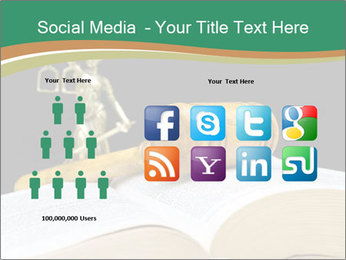 Gavel, law book PowerPoint Template - Slide 5