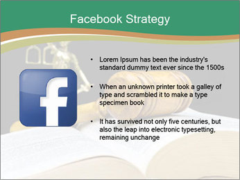 Gavel, law book PowerPoint Template - Slide 6
