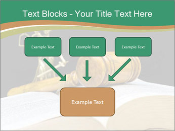 Gavel, law book PowerPoint Template - Slide 70