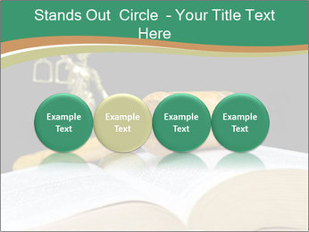 Gavel, law book PowerPoint Template - Slide 76