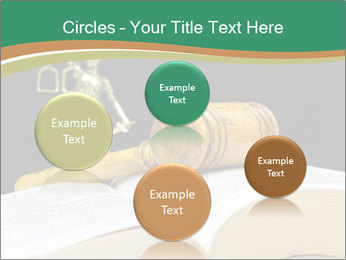 Gavel, law book PowerPoint Template - Slide 77