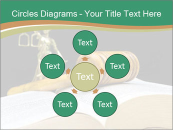 Gavel, law book PowerPoint Template - Slide 78