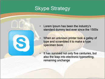 Gavel, law book PowerPoint Template - Slide 8