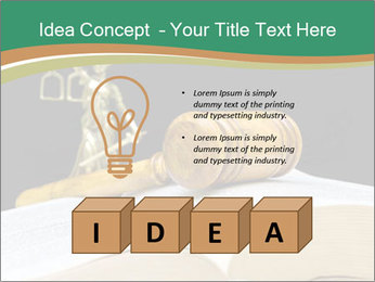 Gavel, law book PowerPoint Template - Slide 80