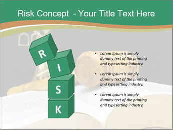 Gavel, law book PowerPoint Template - Slide 81