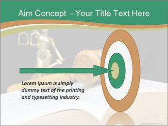 Gavel, law book PowerPoint Template - Slide 83